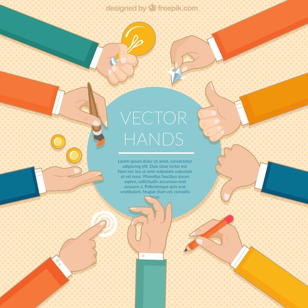 Businessman hands template Free Vector