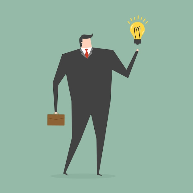 Businessman having an idea Free Vector