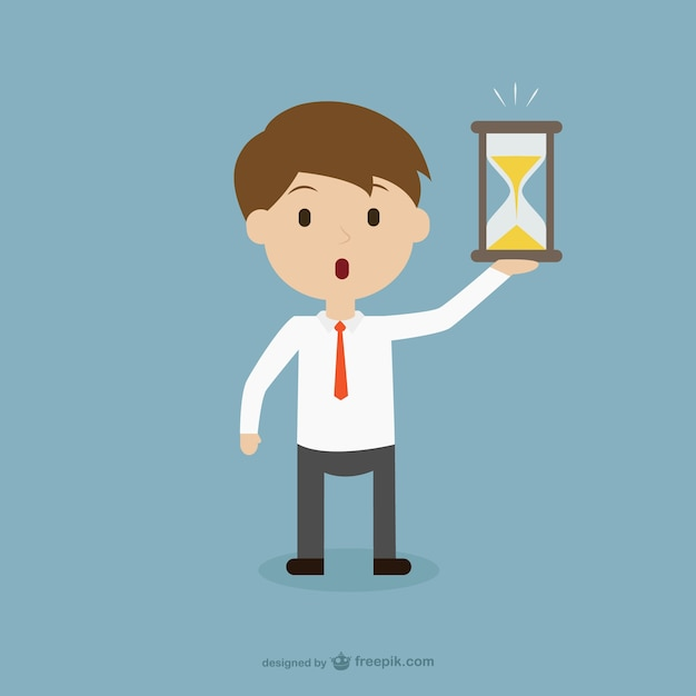 Businessman in a hurry Free Vector