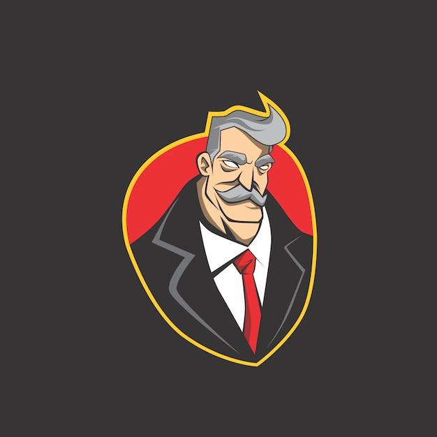 Businessman logo Premium Vector