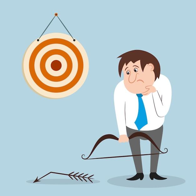 Businessman missed target Free Vector
