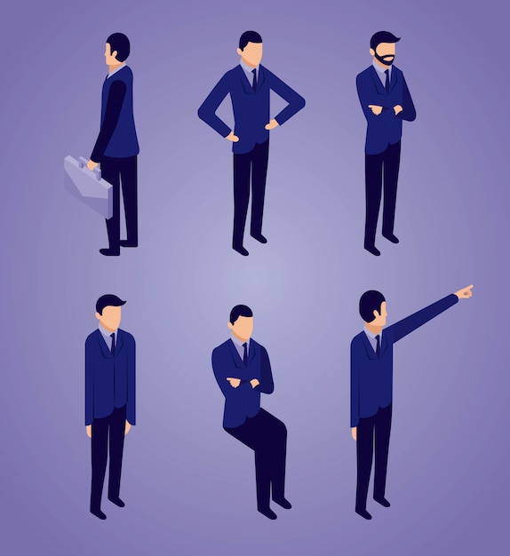 Businessman pack Free Vector