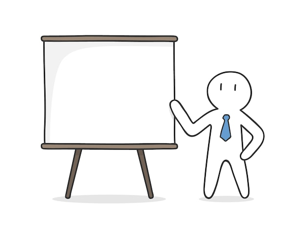 Businessman presenting a project Free Vector