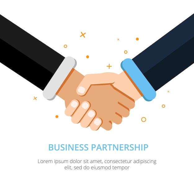Businessman shaking hands Premium Vector