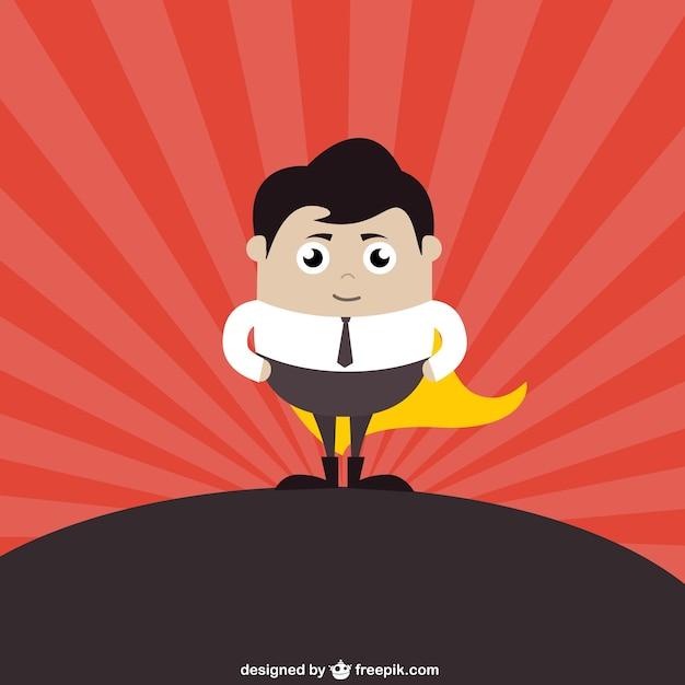 Businessman superhero Free Vector