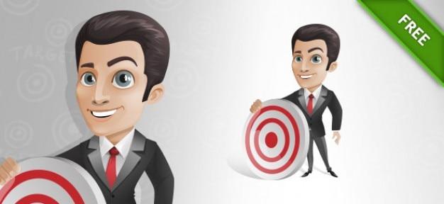 Businessman target success cartoon vector Vector | Free ...