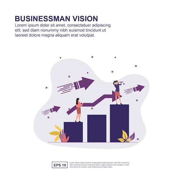 Businessman vision concept Premium Vector
