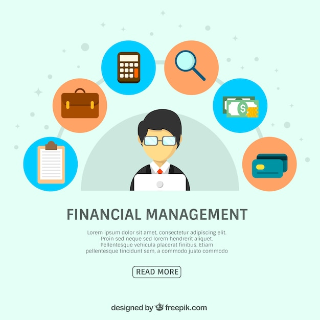 Businessman with financial elements