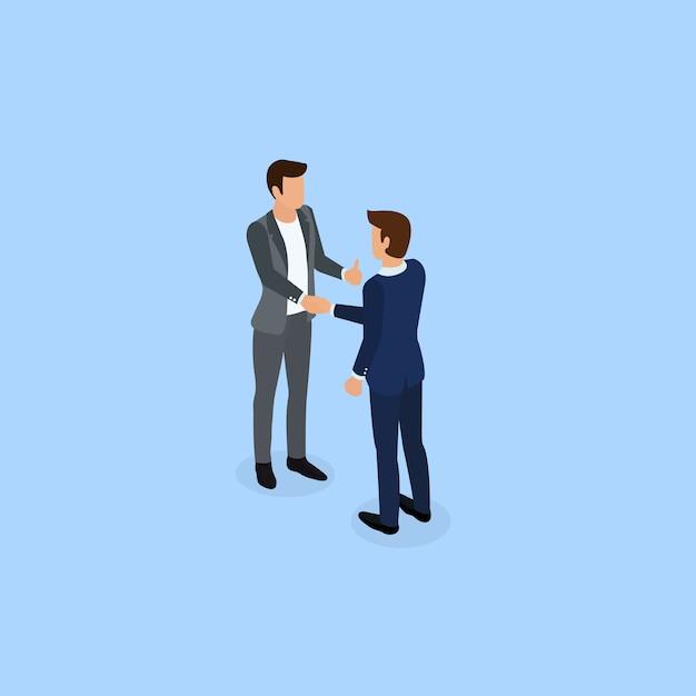 Businessman working with team. Premium Vector