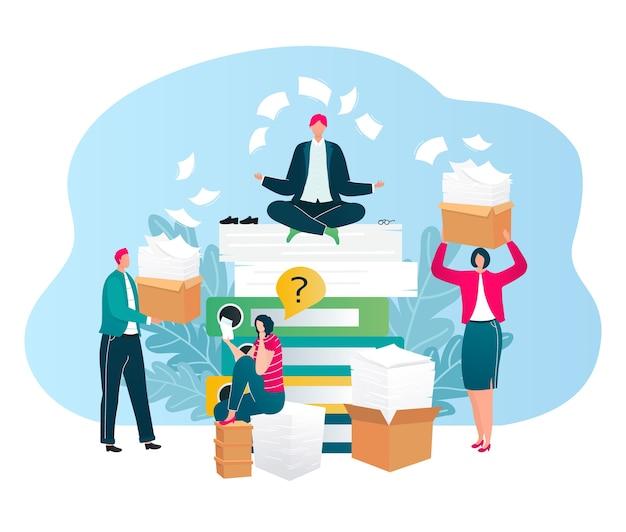 Бизнесмены задают аудит, вопросы, финансовый консалтинг для бизнеса изолированы Premium векторы