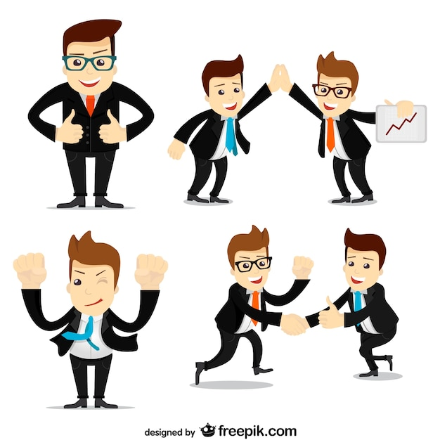 Businessmen collection Free Vector