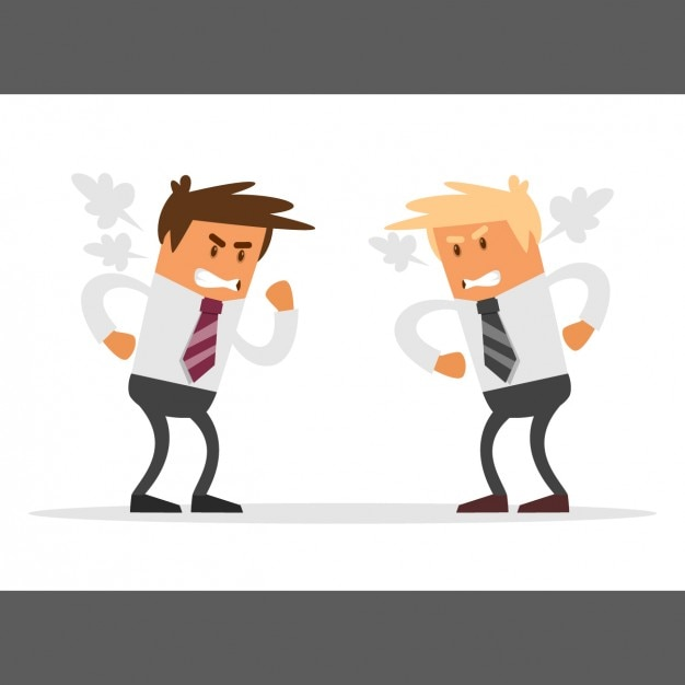 Businessmen competition Free Vector