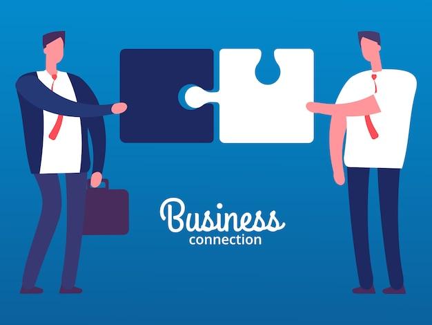 Businessmen connection illustration Premium Vector