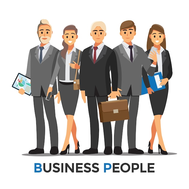 Businessmen consulting  .business people concept cartoon illustration Premium Vector