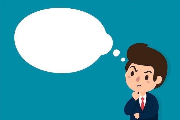 Businessmen who are skeptical Premium Vector