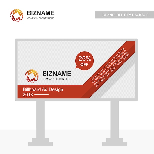 Businesss bill board design vector Premium Vector