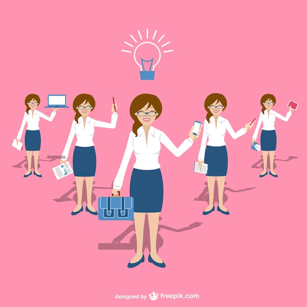 Businesswomen characters Free Vector