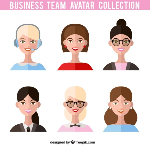 Team Avatar: Businesswomen Team Avatars Vector