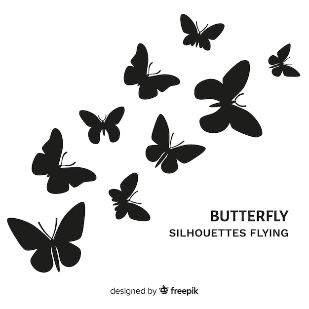 Butterflies flying background Free Vector