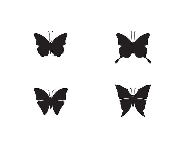 Butterfly conceptual simple, colorful icon. logo. Premium Vector