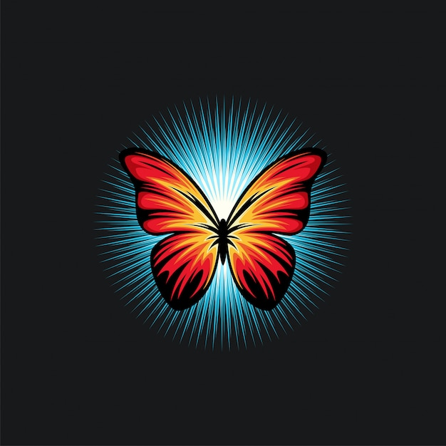 Butterfly design ilustration Premium Vector