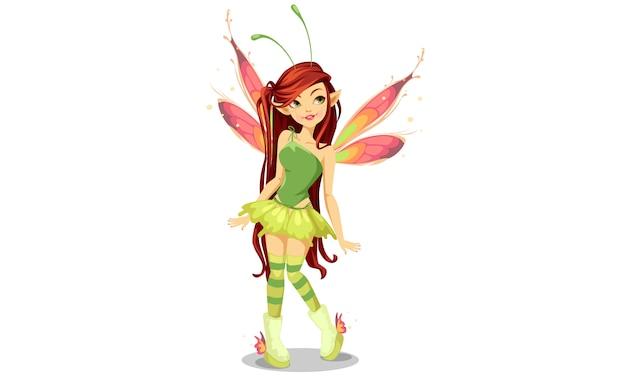 Butterfly fairy Premium Vector