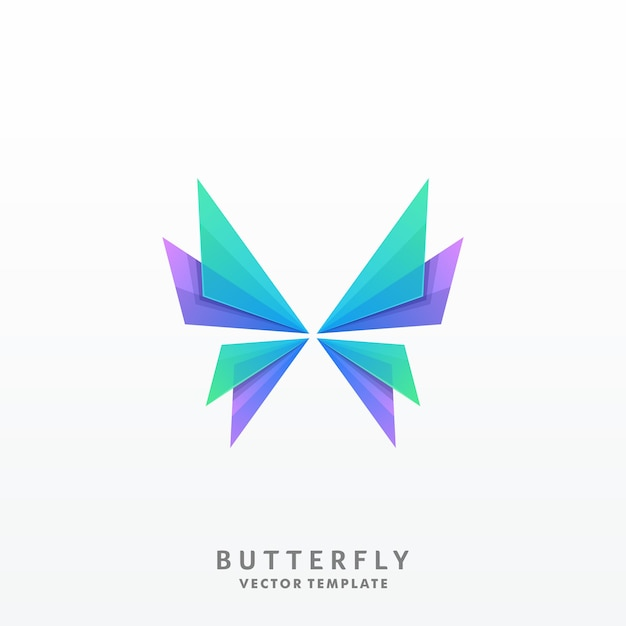 Butterfly illustration vector template Premium Vector