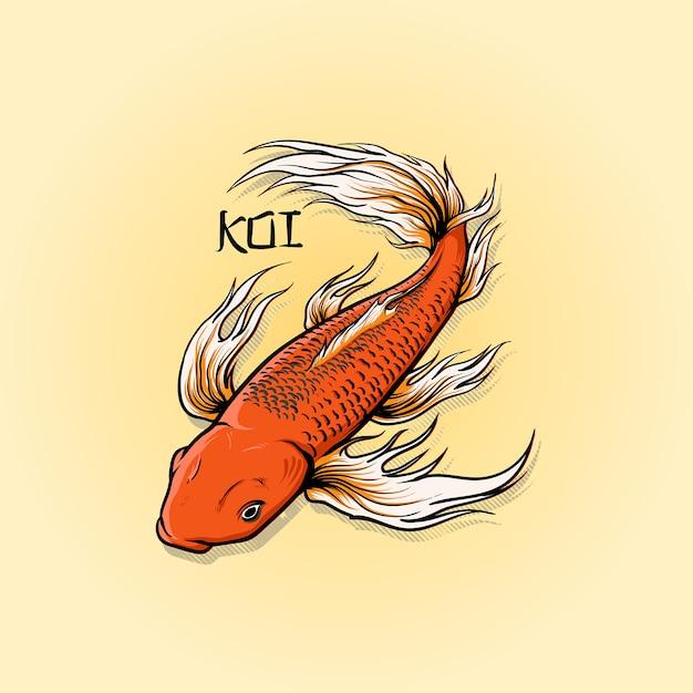 Butterfly Koi Fish Premium Vector