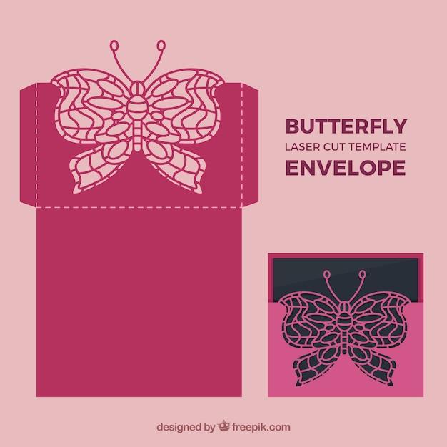 Download Butterfly laser envelope | Free Vector