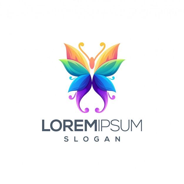 Butterfly logo design Premium Vector