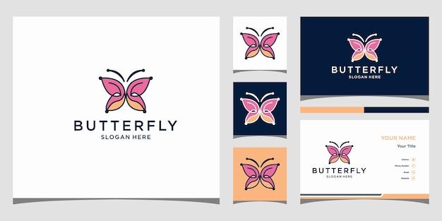 Butterfly logo template premium Premium Vector