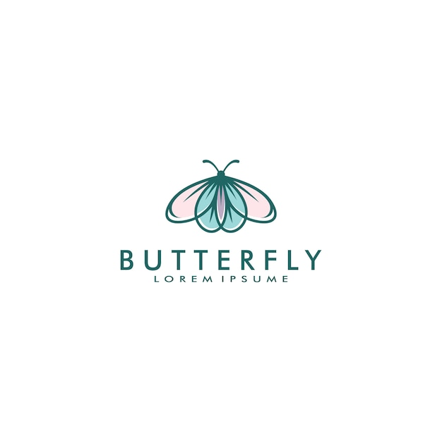 Butterfly logo template vector illustration Premium Vector
