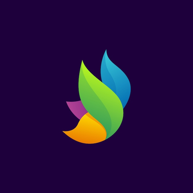 Butterfly modern logo Premium Vector