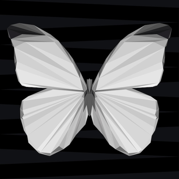 Butterfly. nature and animals life theme background. abstract geometric polygonal triangle butterfl