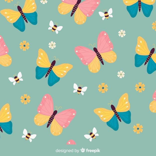 Butterfly pattern Free Vector