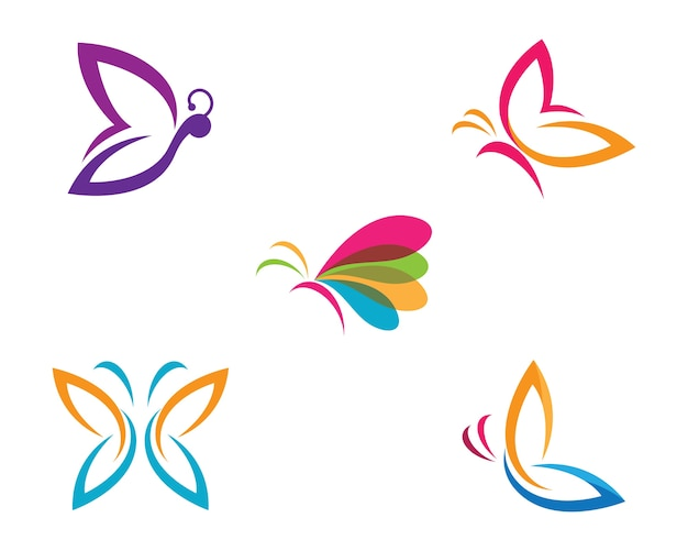 Butterfly symbol illustration Premium Vector