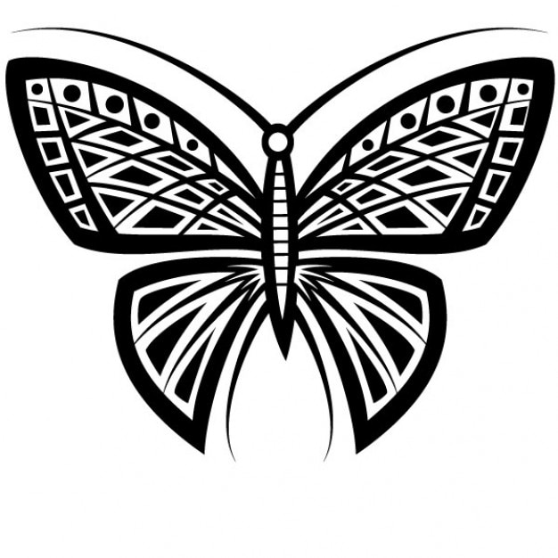 butterfly tattoo tribal design vector vector free download. Black Bedroom Furniture Sets. Home Design Ideas