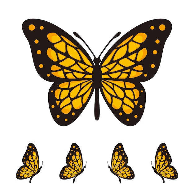 Butterfly vector logo template Premium Vector