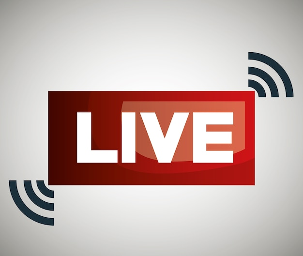 Button icon live streaming design Premium Vector