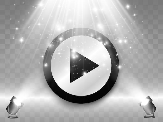 Кнопка. кнопка воспроизведения. проиграть видео. Premium векторы
