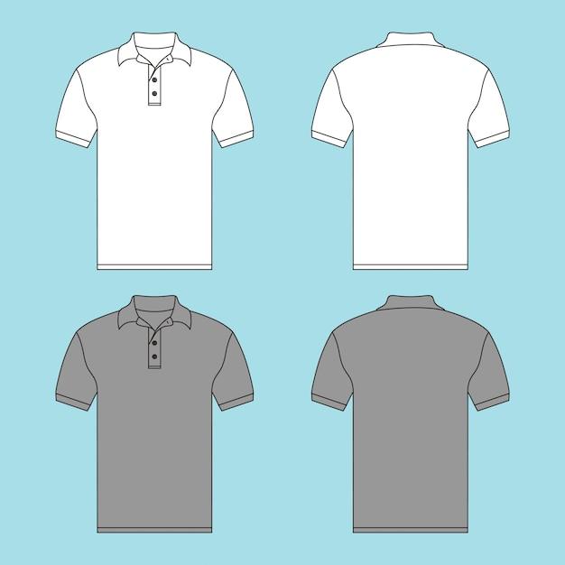 ボタンtシャツイラスト Premiumベクター
