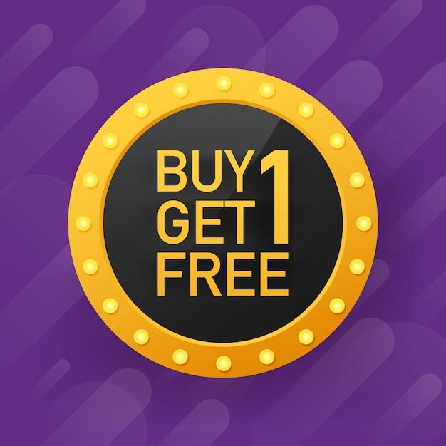 1枚購入すると、1枚無料で販売タグ、バナーデザインテンプレートを入手できます。 Premiumベクター
