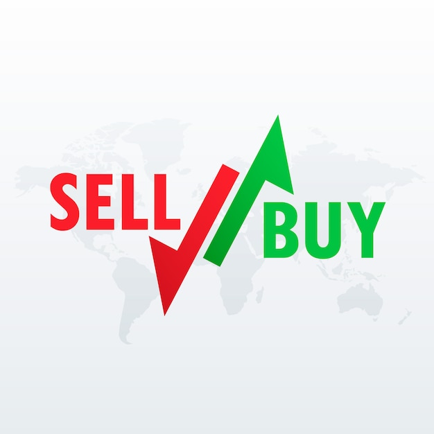 buy and sell arrows for stock market trading Free Vector