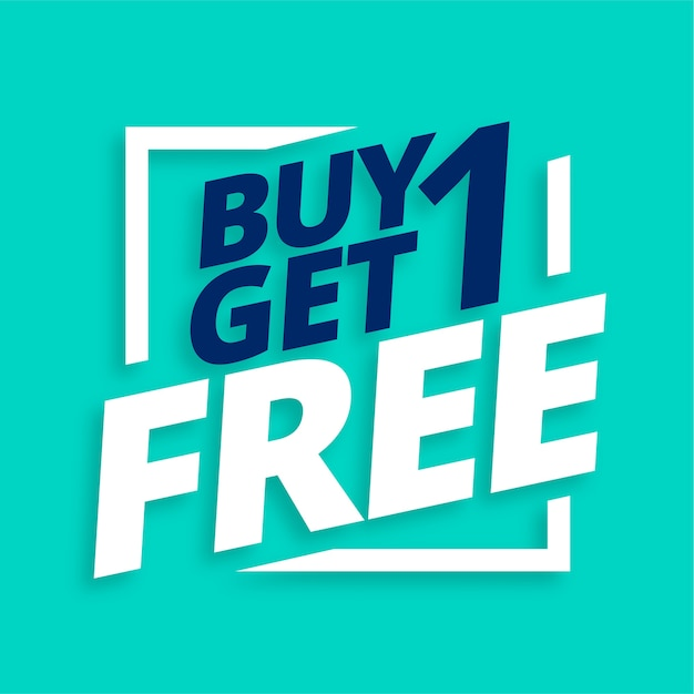 Buy one get one free sale banner Free Vector