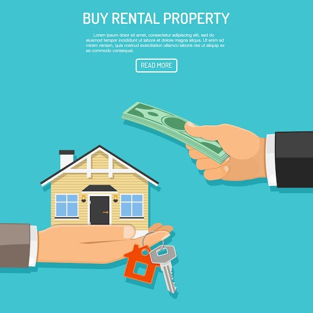 Buy rent real estate Premium Vector