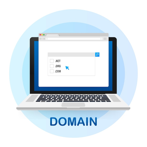 Buying web domains concept Premium Vector