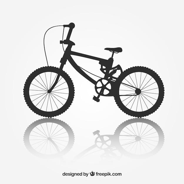 Bycicleシルエットbmxバイクのベクトル 無料ベクター