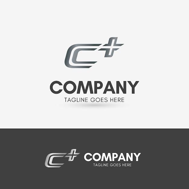 C plus logo Premium Vector