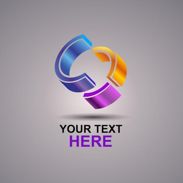C抽象的なロゴ Premiumベクター