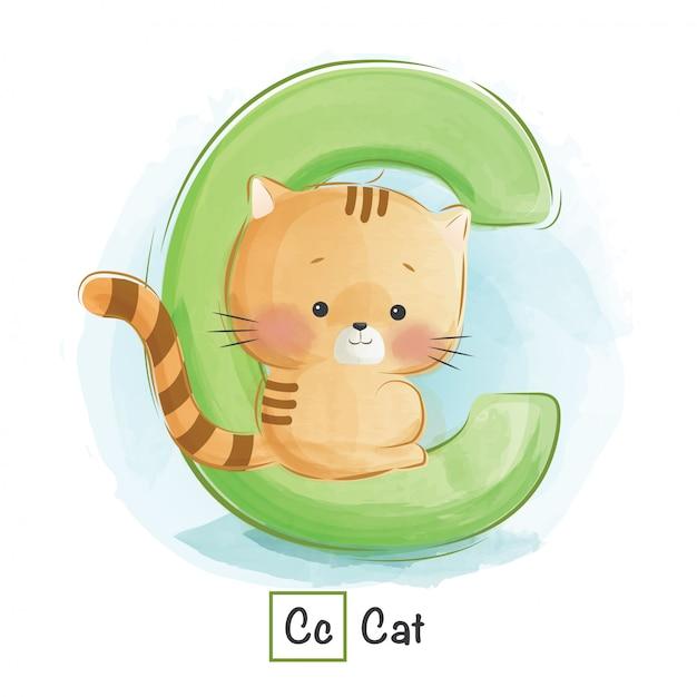 アルファベット動物 -  c Premiumベクター